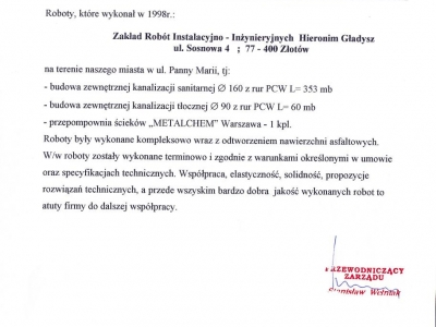Referencje - 1999 (26)